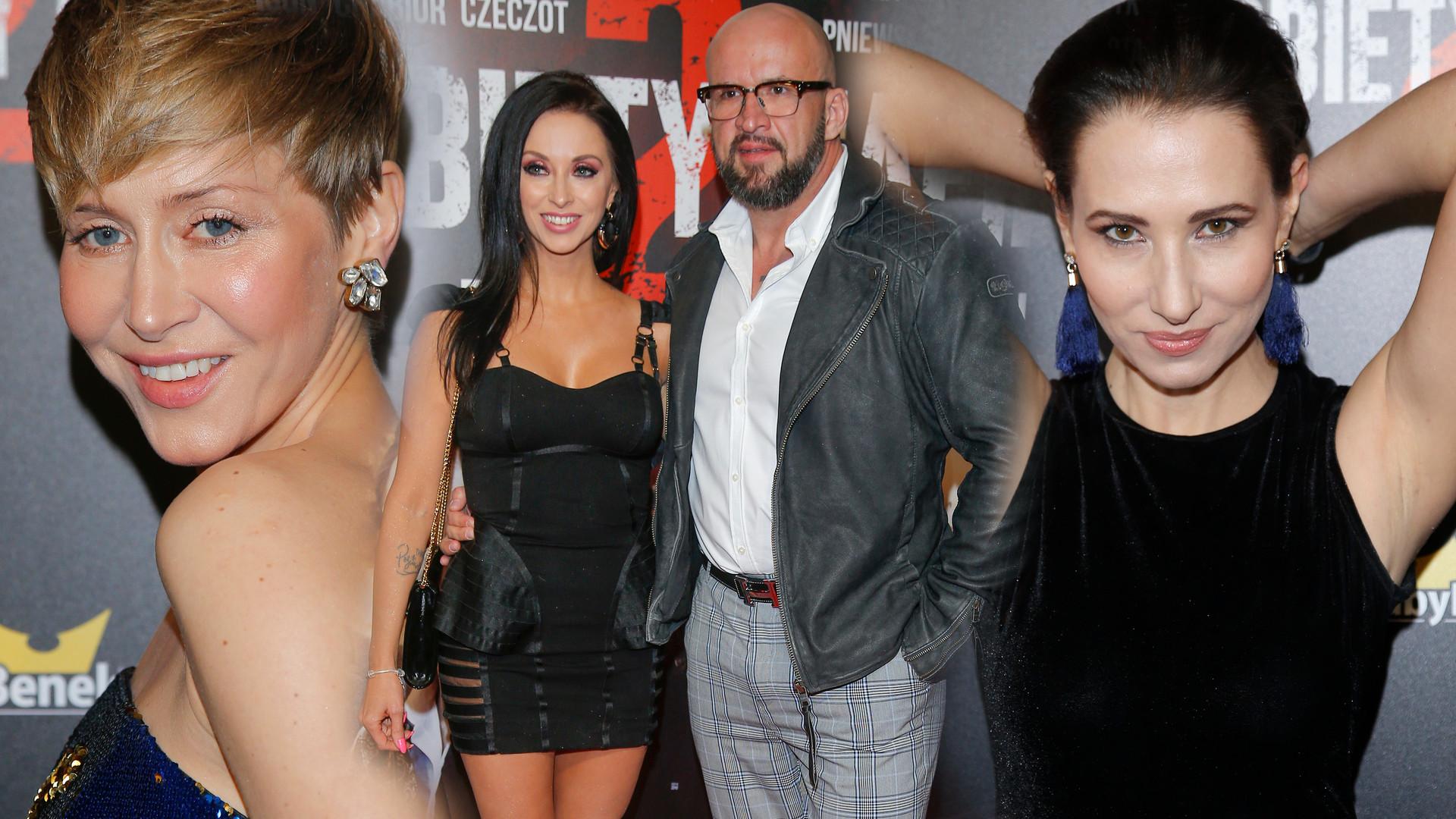 Premiera Kobiet Mafii 2. Tomasz Oświeciński z byłą żoną, szykowna Katarzyna Warnke i inne gwiazdy