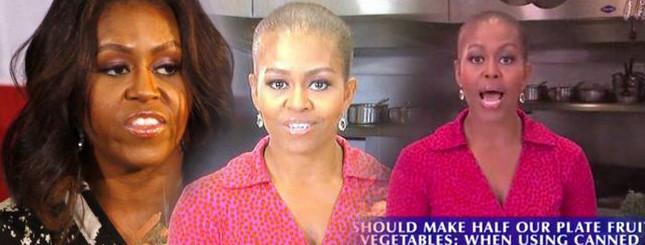 Łysa Pierwsza Dama? Co się stało Michelle Obamie? [VIDEO]