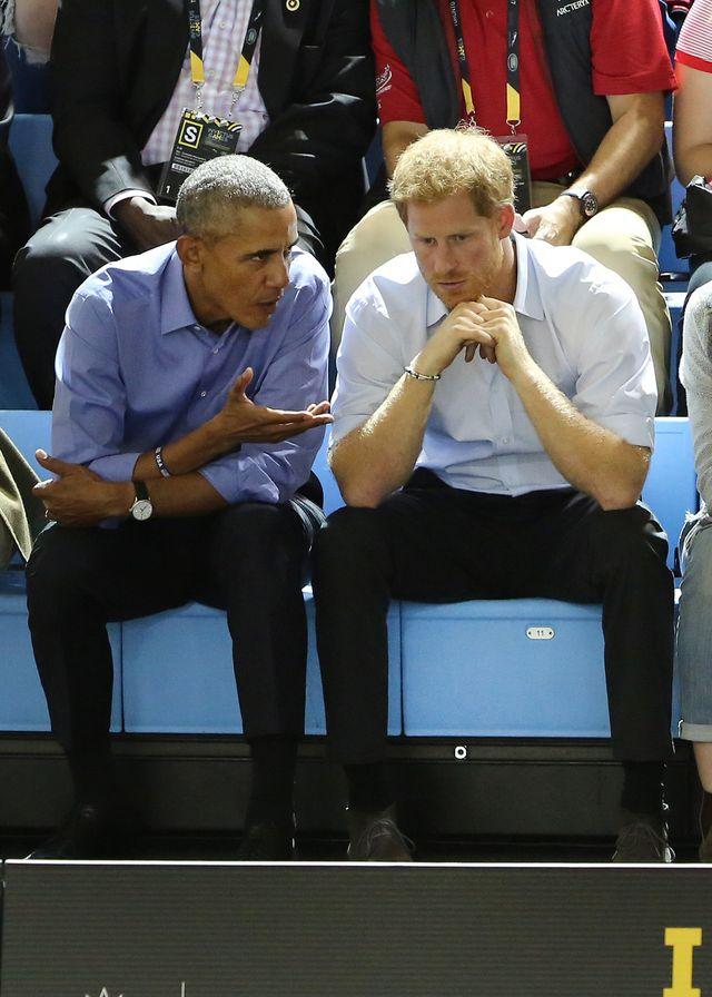 Książę Harry i Barack Obama razem na meczu. O czym rozmawiali? (ZDJĘCIA)