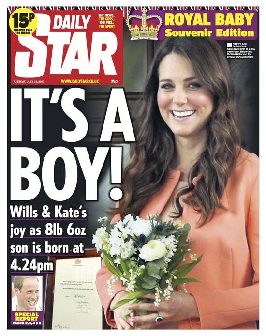 Okładki brytyjskiej prasy krzyczą: Jest syn!