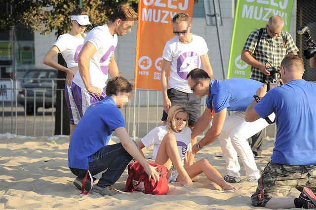Ola Ciupa miała wypadek na meczu (FOTO)