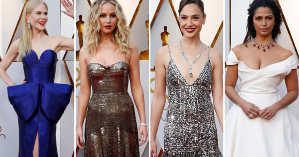 Oscary 2018 Kreacje Gwiazd Na Czerwonym Dywanie Zdjęcia