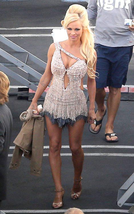 Pamela Anderson trenuje na planie Tańca z Gwiazdami (FOTO)