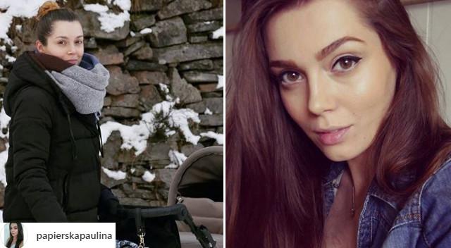 Paulina Papierska, pierwsza polska Top Model, na spacerze z synkiem (Instagram)