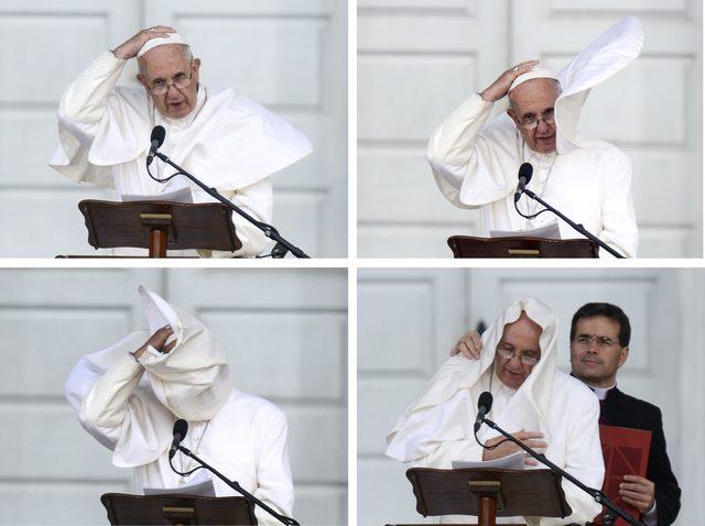 Papież Franciszek wpadł w złość! [VIDEO]