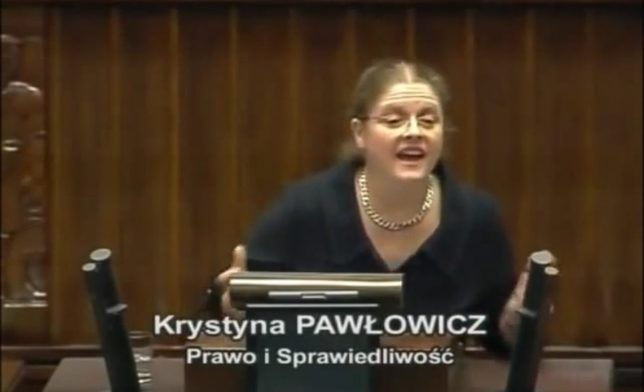 Posłanka Pawłowicz chce posłać dziennikarkę na kurs