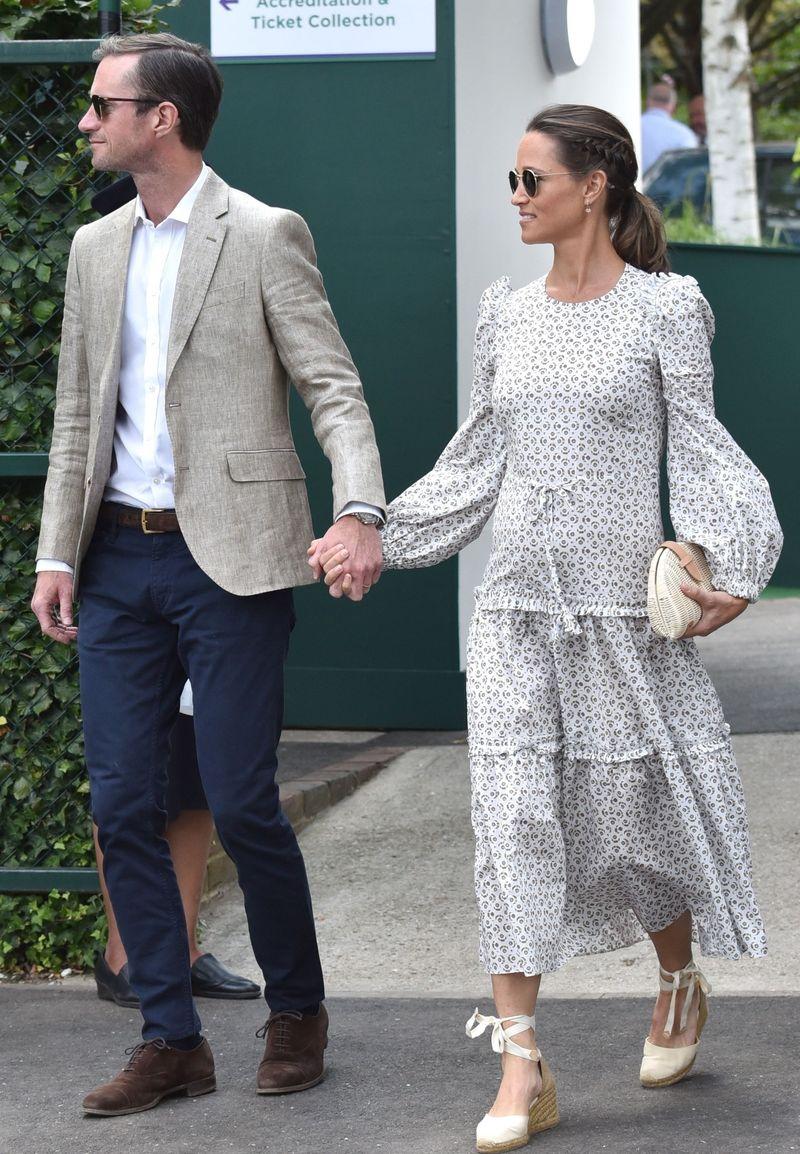 Ciężarna i STYLOWA Pippa Middleton z mężem (ZDJĘCIA)
