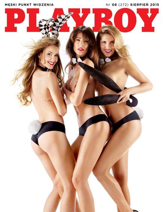 Króliczki z Gali Samochód Roku na okładce nowego Playboya