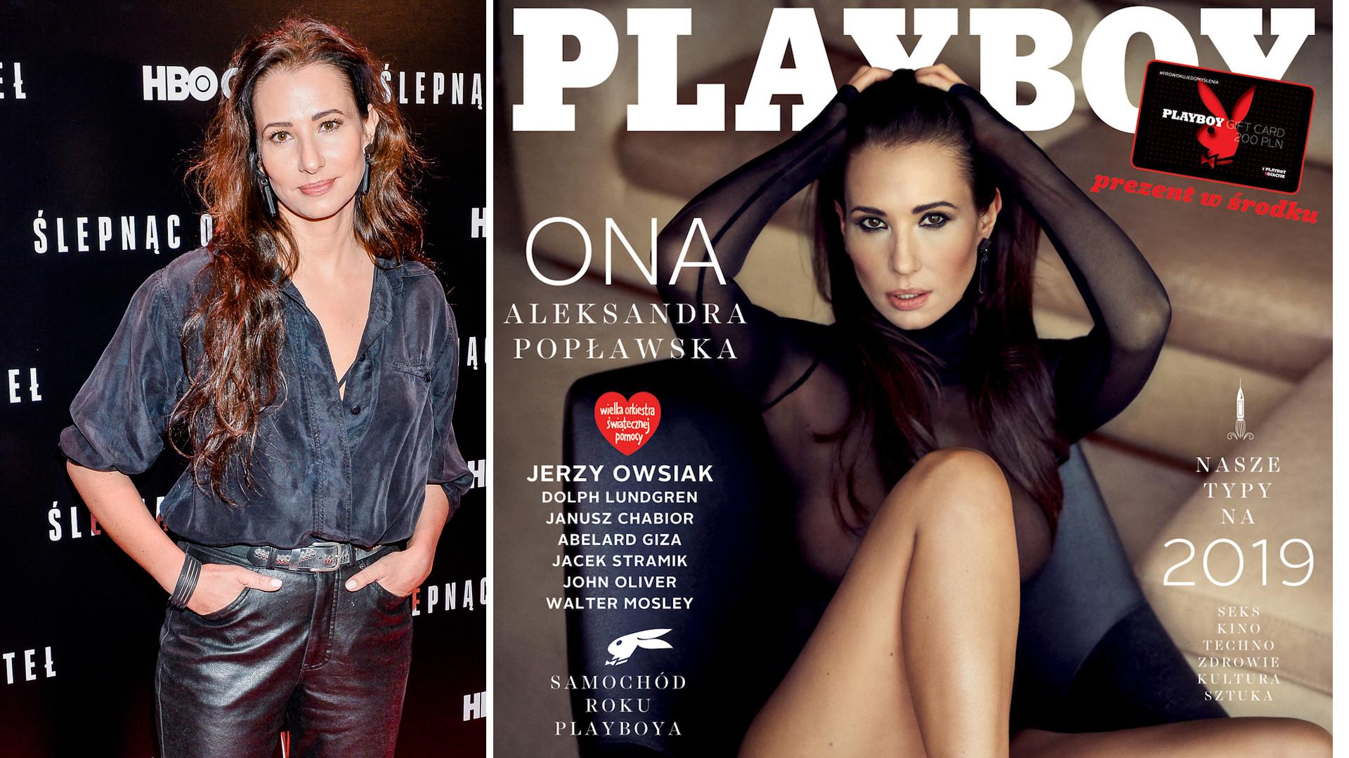 """Aleksandra Popławska naga w Playboyu: """"delikatnie perwersyjna""""."""