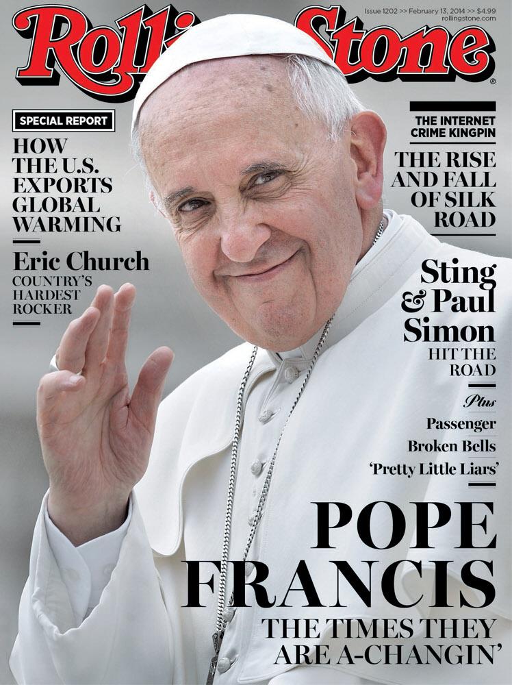 Papie� Franciszek na ok�adce… Rolling Stone