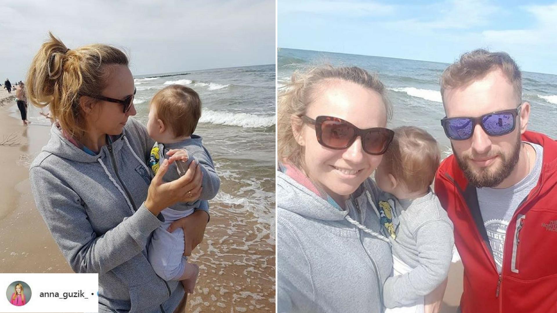 Anna Guzik z rodziną nad polskim morzem!