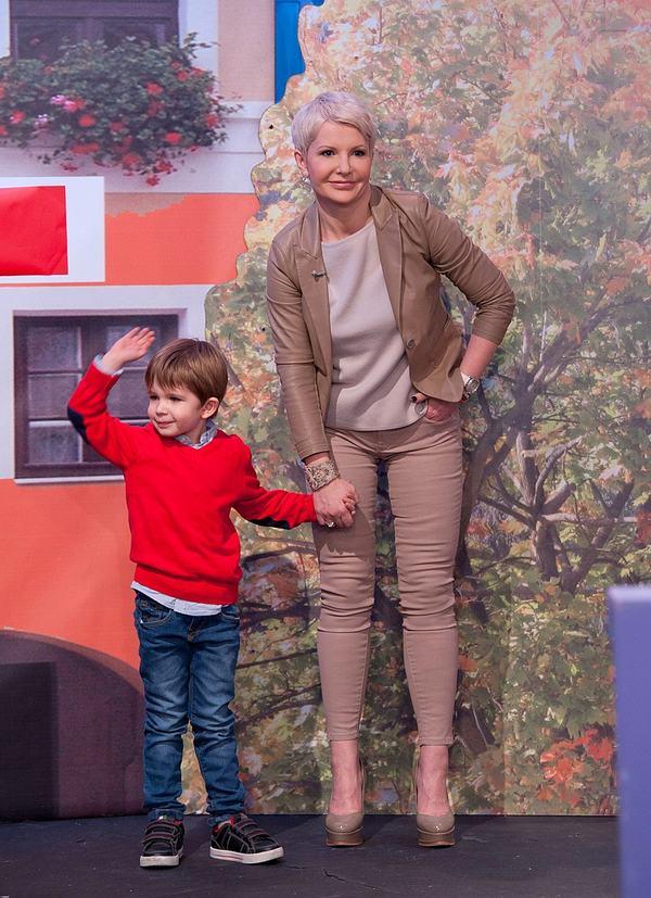 Joanna Racewicz z synem w telewizji (FOTO)