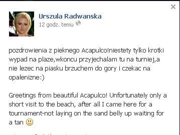 Jak wygląda Urszula Radwańska w bikini? (FOTO)