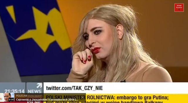 Rafalala, transseksualista robi drakę na wizji (VIDEO)