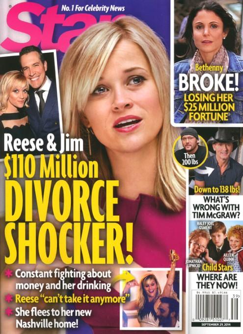 Reese Witherspon w trakcie rozwodu? ZA DU�O PIJE?