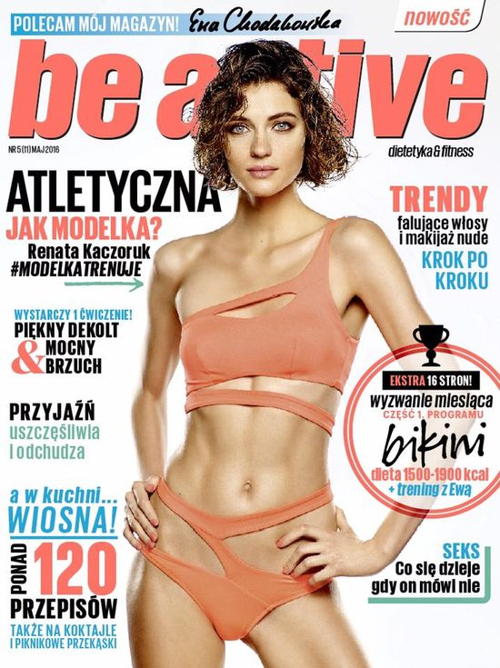 Renata Kaczoruk na okładce magazynu Ewy Chodakowskiej