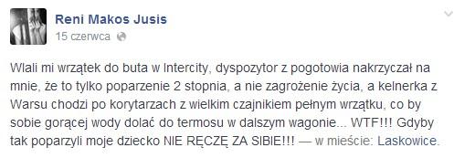 Reni Jusis przeżyła w PKP DRAMAT!