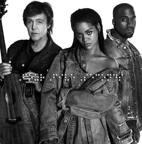 Posłuchajcie piosenkarki Rihanny, Westa i McCartney'a!
