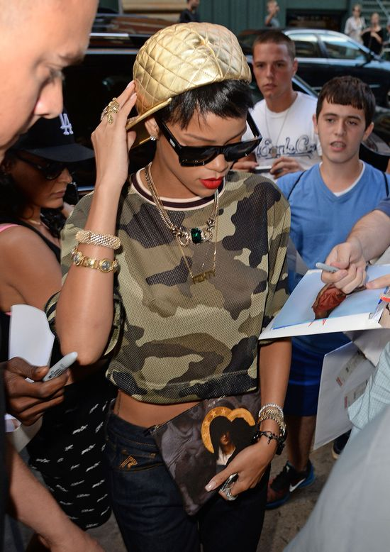 Rihanna flirtowa�a z Justinem Bieberem