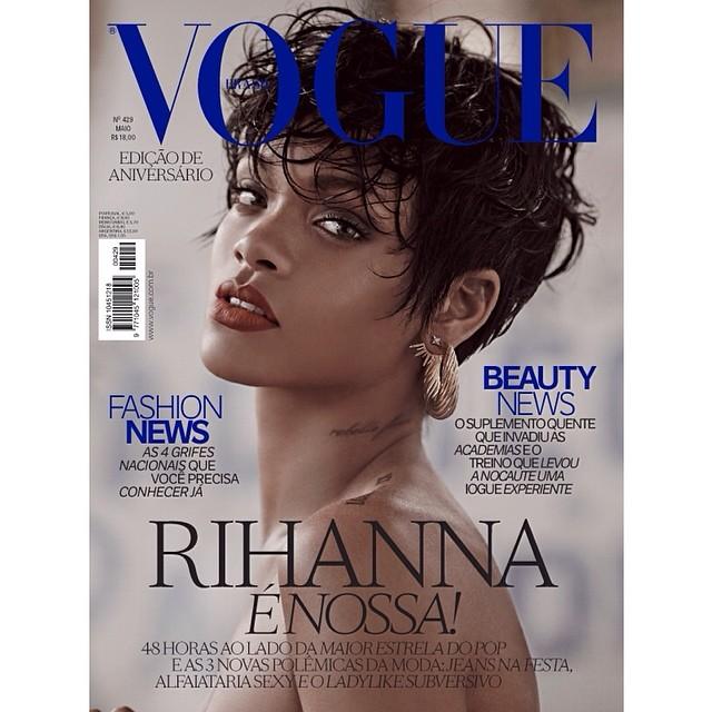 Rihanna na ok�adce brazylijskiego Vogue (FOTO)