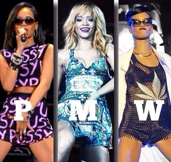 Rihanna lubi być wulgarna (FOTO)