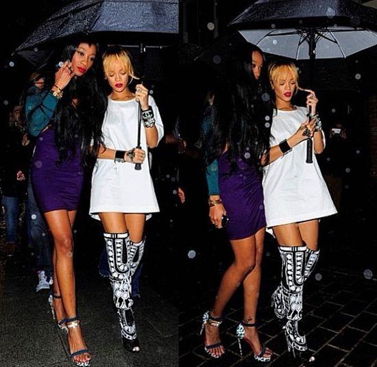 Rihanna przygotowała się na angielską pogodę (FOTO)