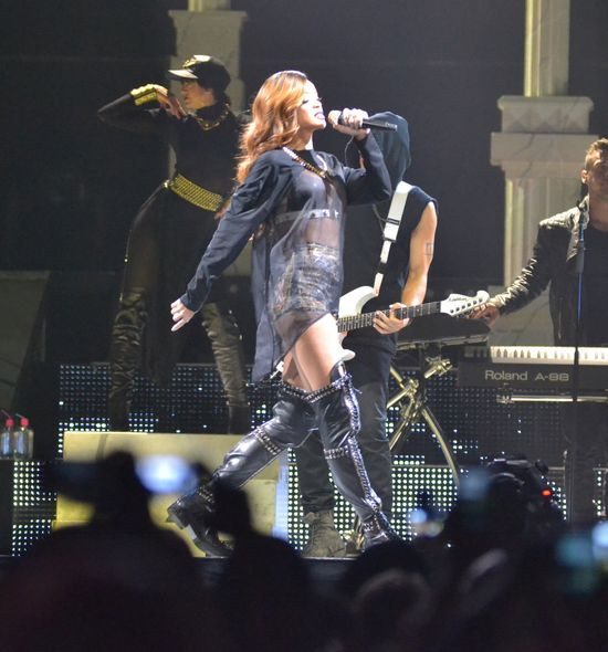Rihanna zapaliła się na scenie