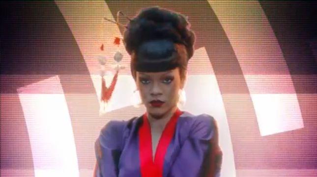 Rihanna jako gejsza bez brwi