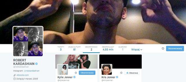 Rob Kardashian szaleje na Twitterze!
