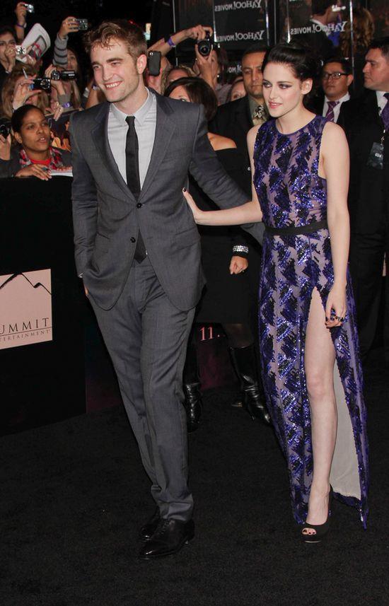 Kristen Stewart i Robert Pattinson pocałują się na premierze