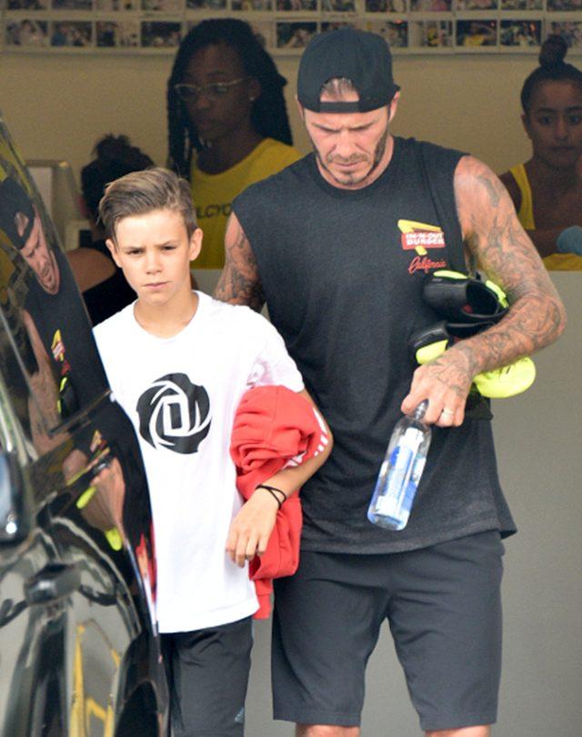 Nie tego spodziewa� si� David Beckham po synu Romeo?