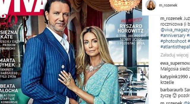 Rozenek-Majdan  z mężem w łóżku w Vivie! – na bogato (Instagram)