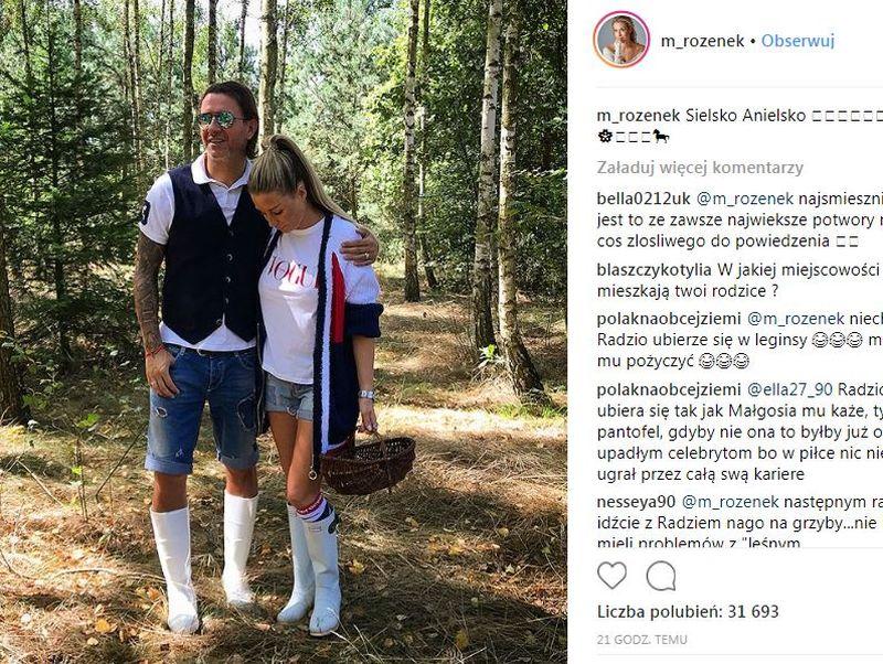 HEJT na Małgorzatę Rozenek i Radosława Majdana za STRÓJ na grzyby
