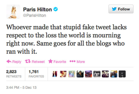 Paris Hilton nie wie, kim by� Nelson Mandela?