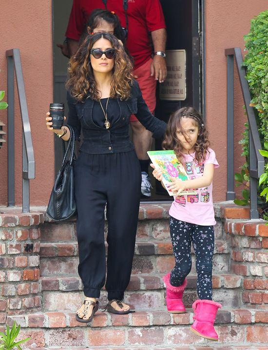 Córka Salmy Hayek coraz bardziej podobna do mamy? (FOTO)