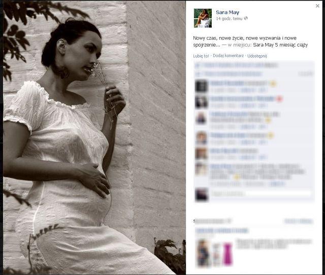 Sesja ciążowa w wydaniu Sary May (FOTO)