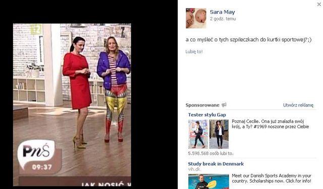 Sara May ostro o Kai Śródce (FOTO)