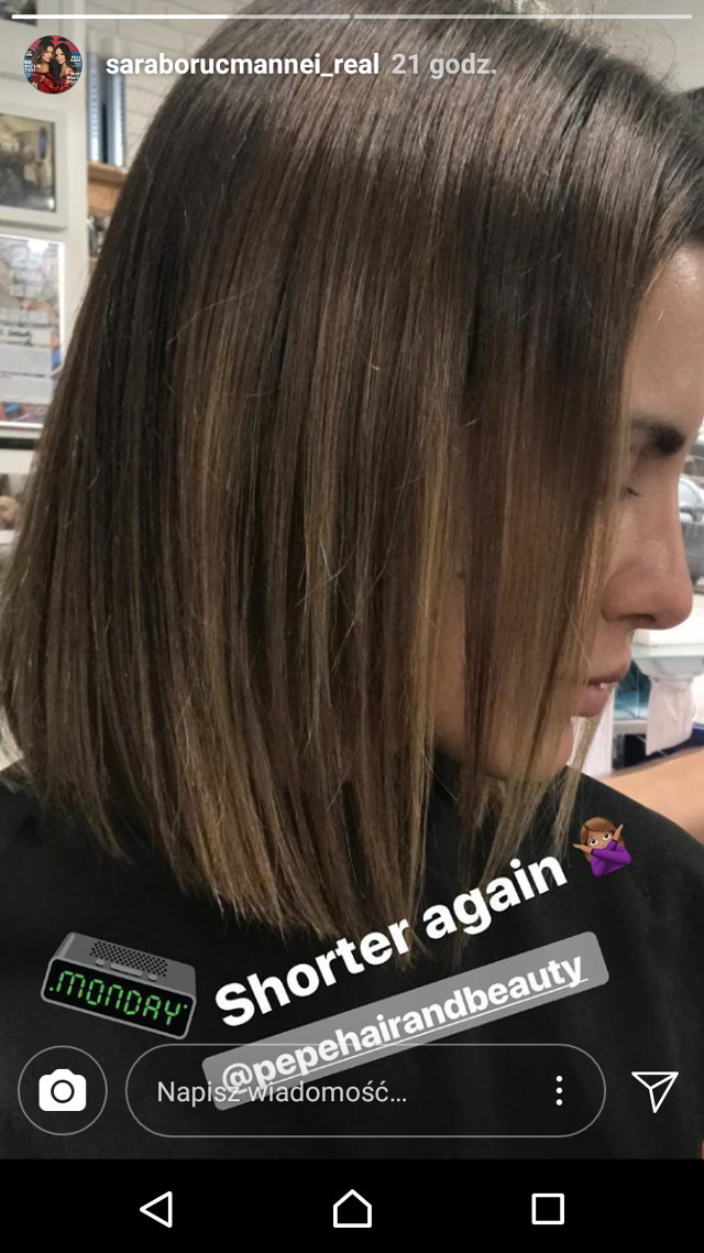 Sara Boruc zmieniła fryzurę! Lepiej? (Instagram)