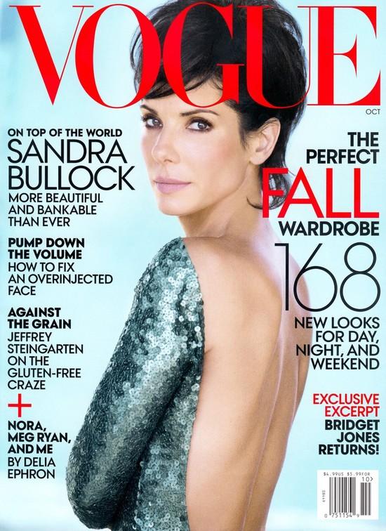 Sandra Bullock na ok�adce Vogue - nuda? (FOTO)