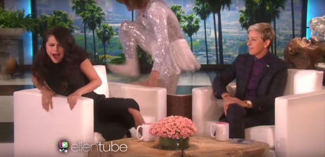 Ellen DeGeneres mocno nastraszyła Selenę Gomez (VIDEO)
