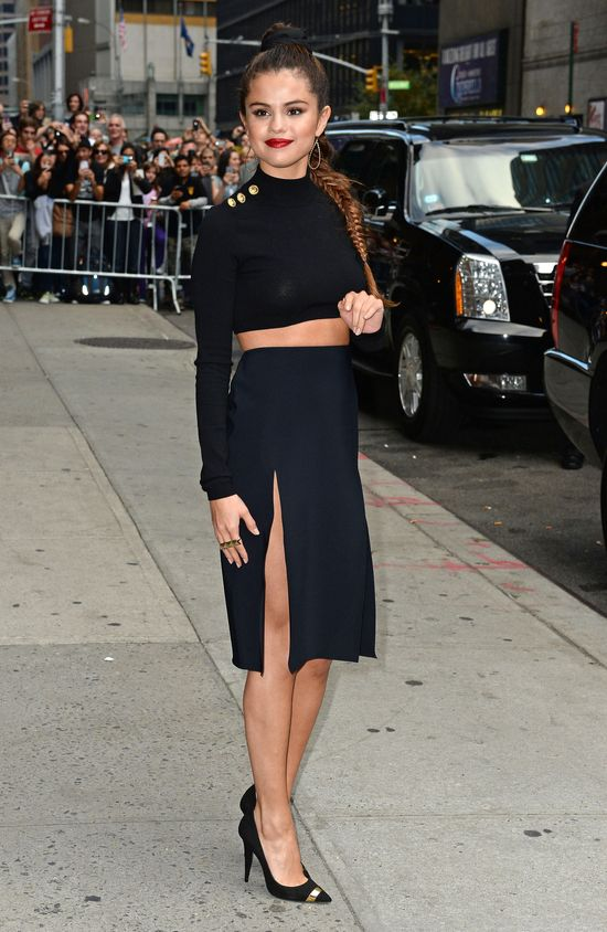 Selena Gomez kusi�a u Davida Lettermana (FOTO+VIDEO)