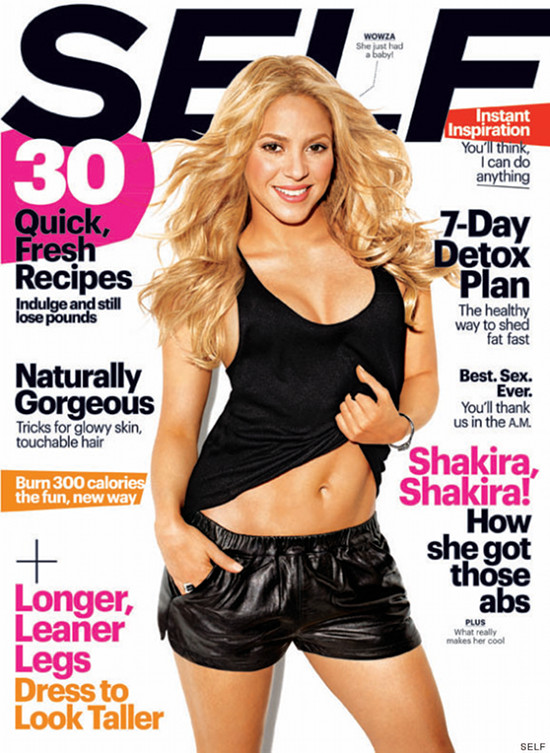 Shakira z perfekcyjnie płaskim brzuchem