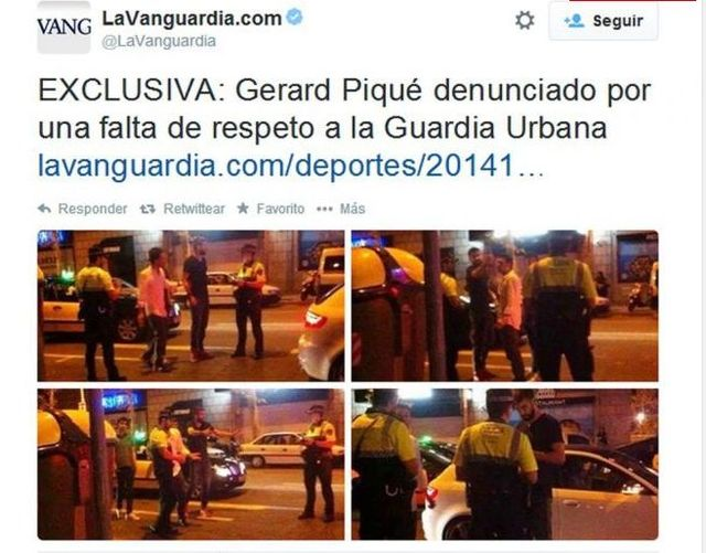 Gerard Pique zwyzywa� policjant�w! (FOTO)