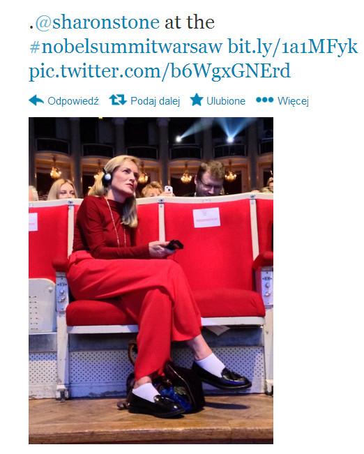 Sharon Stone pozytywnie zaskoczona Polską