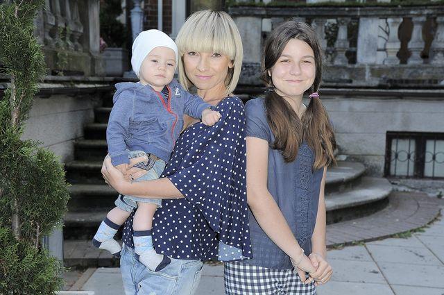 Marzena Sienkiewicz z dziećmi na imprezie (FOTO)