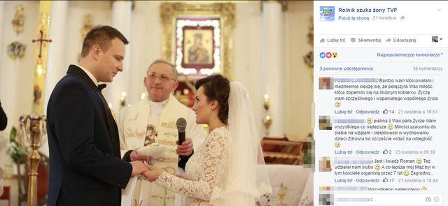 """Na ślubie Ani i Grzegorza z """"Rolnika"""" śpiewała uczestniczka The Voice of Poland"""