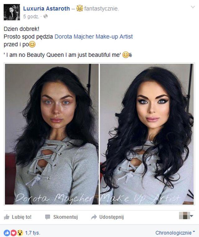 NIE POZNALIBYŚCIE Luxurii Astaroth bez makijażu (FOTO)