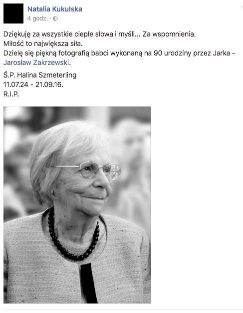 Natalia Kukulska wspomina zmarłą babcię: Miłość to największa siła