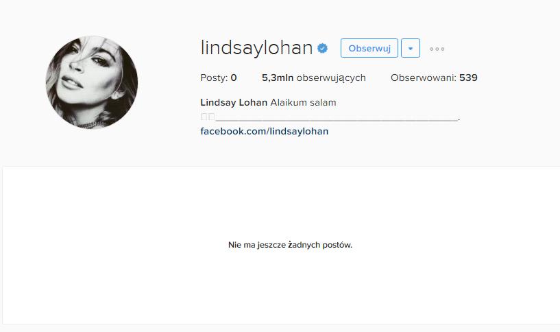 Lindsay Lohan skasowała WSZYSTKO na swoim Instagramie!