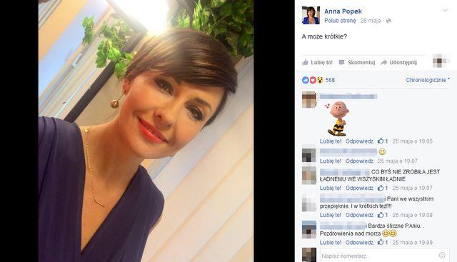 Anna Popek już tak nie wygląda! Czy pasuje jej nowa fryzura?
